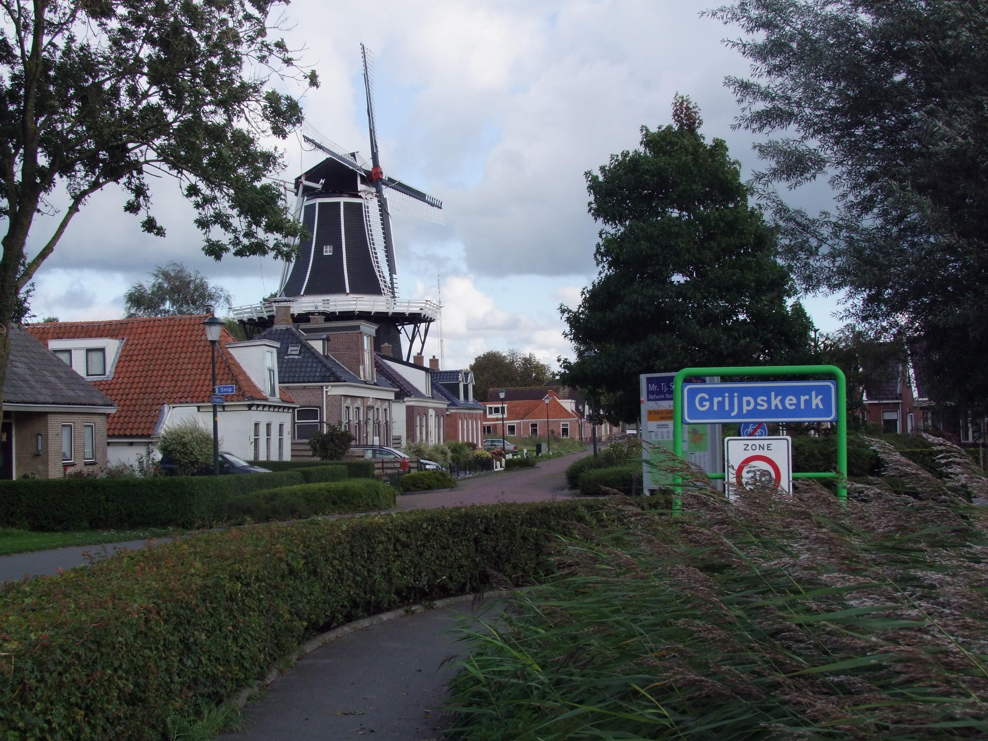 Ingang dorp bij molen