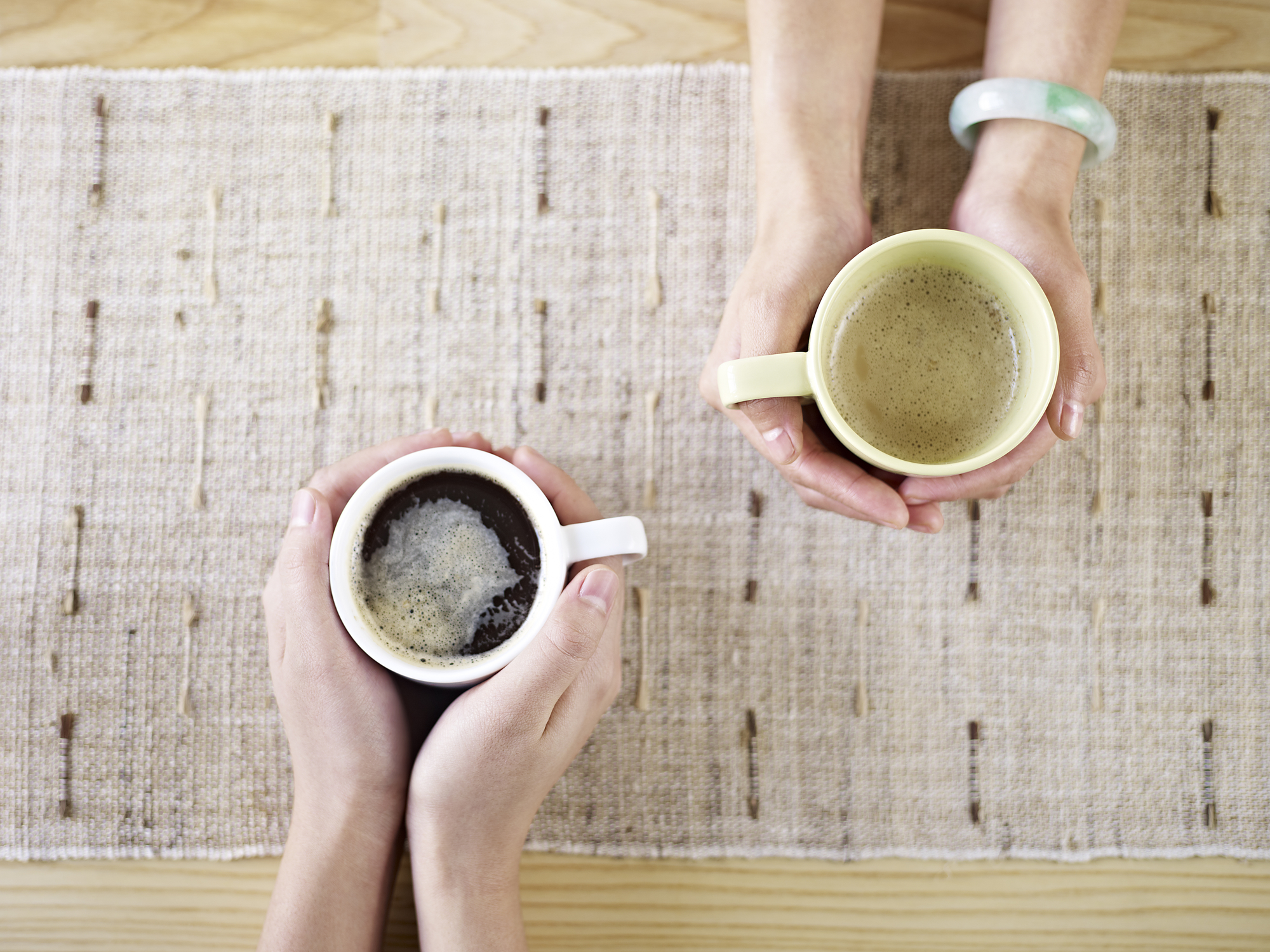 Samen koffiedrinken