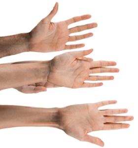 handen ontvangen hulp