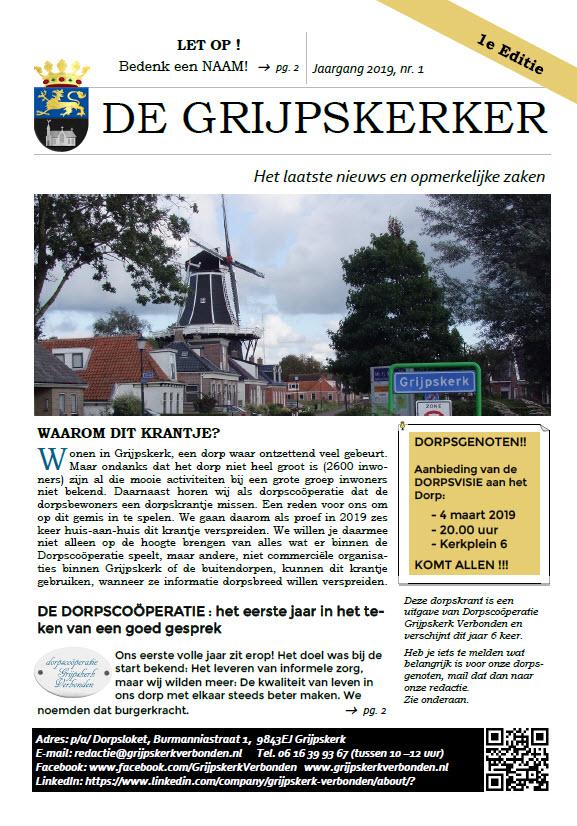 1e editie Grijpskerker