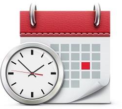 kalender en klok