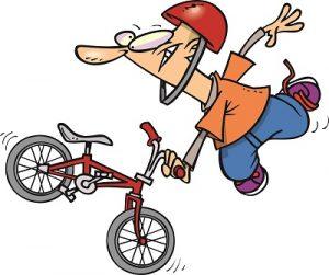 ongemakkelijk op de fiets
